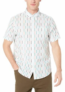 Original Penguin Men's Short Sleeve Stripe Button Down Shirt  XXL