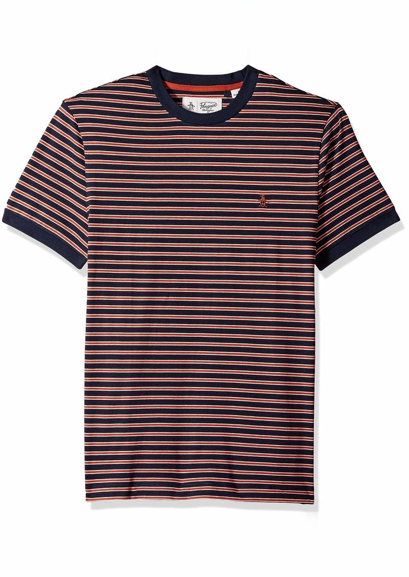 Original Penguin Men's Short Sleeve Stripe Tee  L