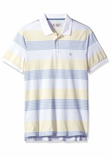 Original Penguin Men's Short Sleeve Stripe Polo  M