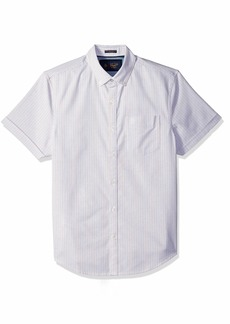 Original Penguin Men's Short Sleeve Stripe Stretch Oxford  Extra Extra Large