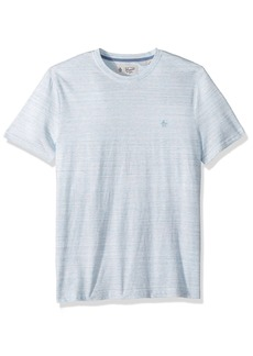 Original Penguin Men's Short Sleeve Stripe Tee blue topaz