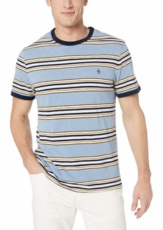 Original Penguin Men's Short Sleeve Stripe Polo  XXL