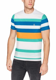 Original Penguin Men's Short Sleeve Stripe Polo  S