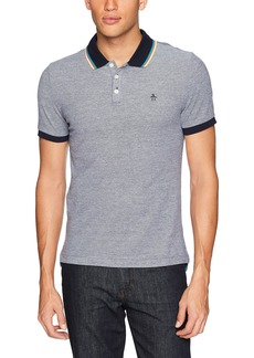 Original Penguin Men's Short Sleeve Tipped Birdseye Polo