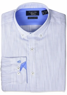 Original Penguin Men's Slim Fit Button Down Collar Fashion Dress Shirt