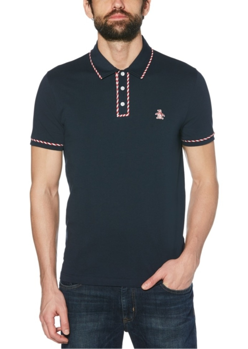 Original Penguin Men's Slim-Fit Candy Cane Polo Shirt