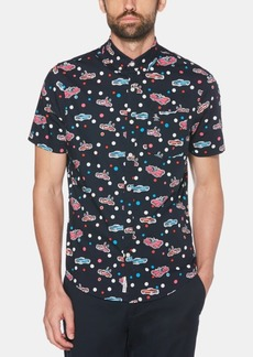 Original Penguin Men's Slim-Fit Car-Print Graphic Shirt