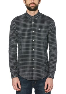 Original Penguin Men's Slim-Fit Check Oxford Shirt