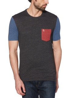 Original Penguin Men's Slim-Fit Colorblocked Pocket T-Shirt