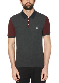 Original Penguin Men's Slim-Fit Colorblocked Polo Shirt