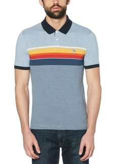 Original Penguin Men's Slim-Fit Engineered Stripe Polo Shirt