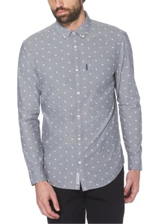 Original Penguin Men's Slim-Fit Flamingo-Print Dobby Shirt