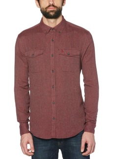 Original Penguin Men's Slim-Fit Flannel Shirt