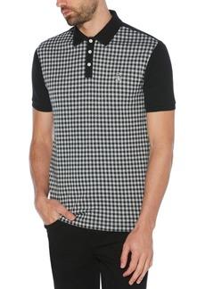 Original Penguin Men's Slim-Fit Gingham Jacquard Polo Shirt
