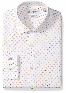 Original Penguin Men's Slim Fit Spread Collar Fashion Dress Shirt