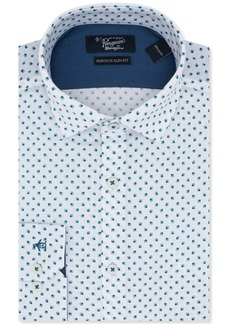 Original Penguin Men's Slim-Fit Square-Print Dress Shirt