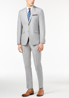 Closeout! Original Penguin Men's Slim-Fit Stretch Light Gray Suit