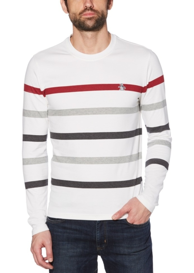 Original Penguin Men's Slim-Fit Striped Sweater