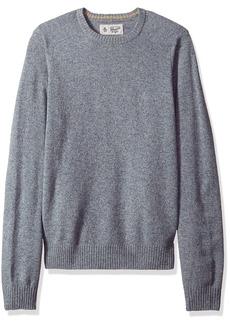 Original Penguin Men's Solid Lambswool Crew Sweater Faded Denim