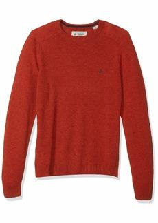 Original Penguin Men's Solid Lambswool Crew Sweater ketchup XX Large