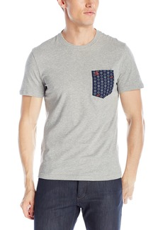 Original Penguin Men's Space Ship Foulard Woven Pocket Tee