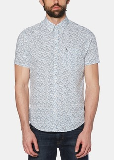 Original Penguin Men's Stretch Ditsy Floral-Print Shirt