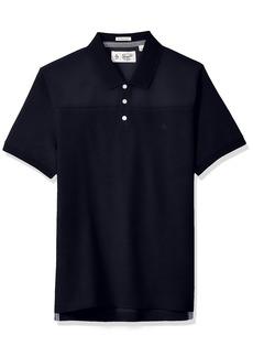 Original Penguin Men's Suede Pieced Polo Shirt
