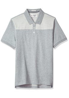 Original Penguin Men's Suede Pieced Polo Shirt