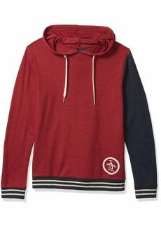 Original Penguin Men's Sweater Long Sleeve Color Block Hoodie Sweatshirt