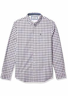 Original Penguin Men's Tattersall Long Sleeve Button-Down Shirt