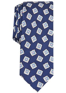 Original Penguin Men's Tessio Medallion Skinny Silk Tie