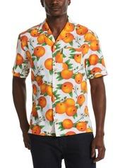 Original Penguin Men's Tossed Oranges-Print Camp Shirt