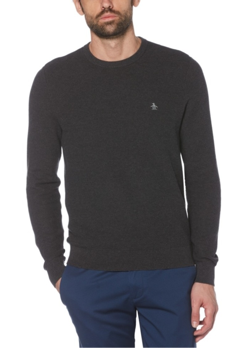 Original Penguin Men's Tuck Stitch Sweater