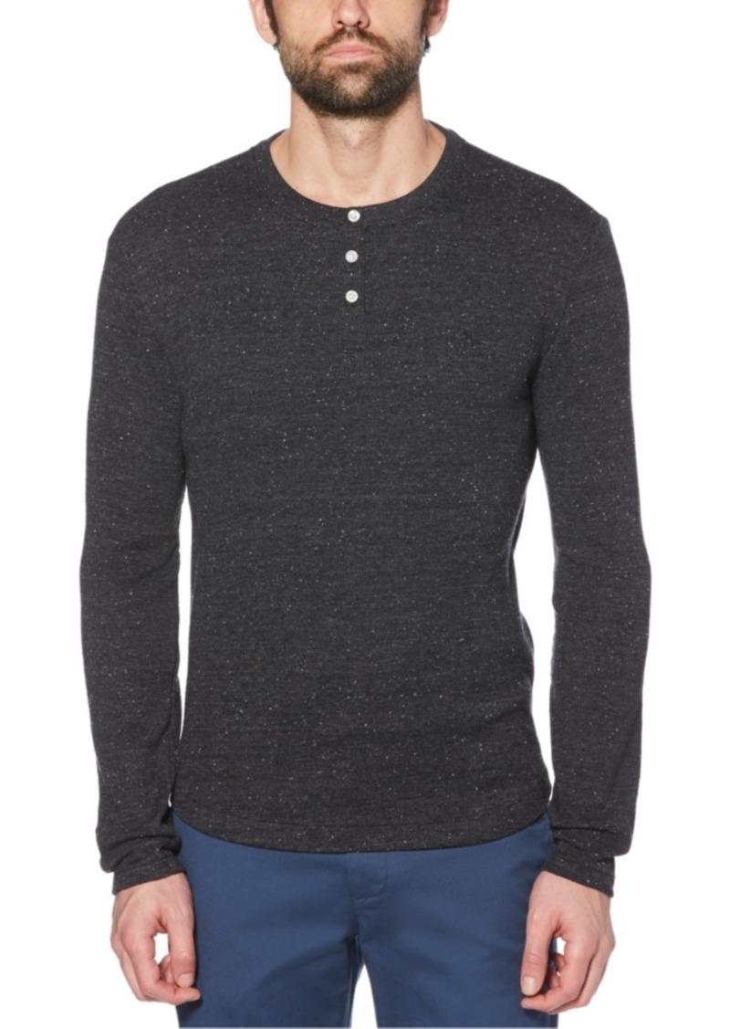Original Penguin Men's Waffle Henley Long Sleeve T-Shirt