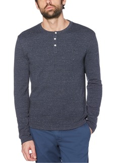 Original Penguin Men's Waffle Henley Long Sleeve T-Shirt