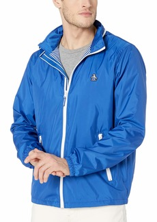 Original Penguin Men's Windbreaker Jacket Surf The Web Sticker Pete L