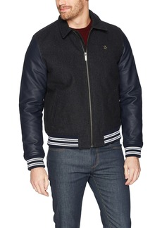 Original Penguin Men's Wool Blend Varsity Jacket