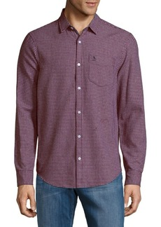 Original Penguin Mini Plaid Button-Down Shirt