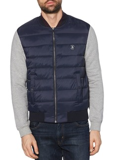 Original Penguin Mixed-Media Quilted Jacket