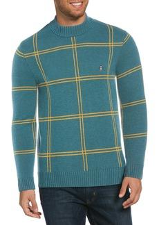 Original Penguin Mock Neck Windowpane Sweater