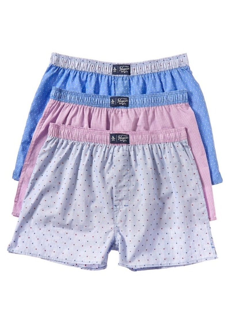 Original Penguin Original Penguin Pack of 3 Woven...