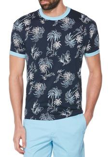 Original Penguin Palm Print Ringer T-Shirt