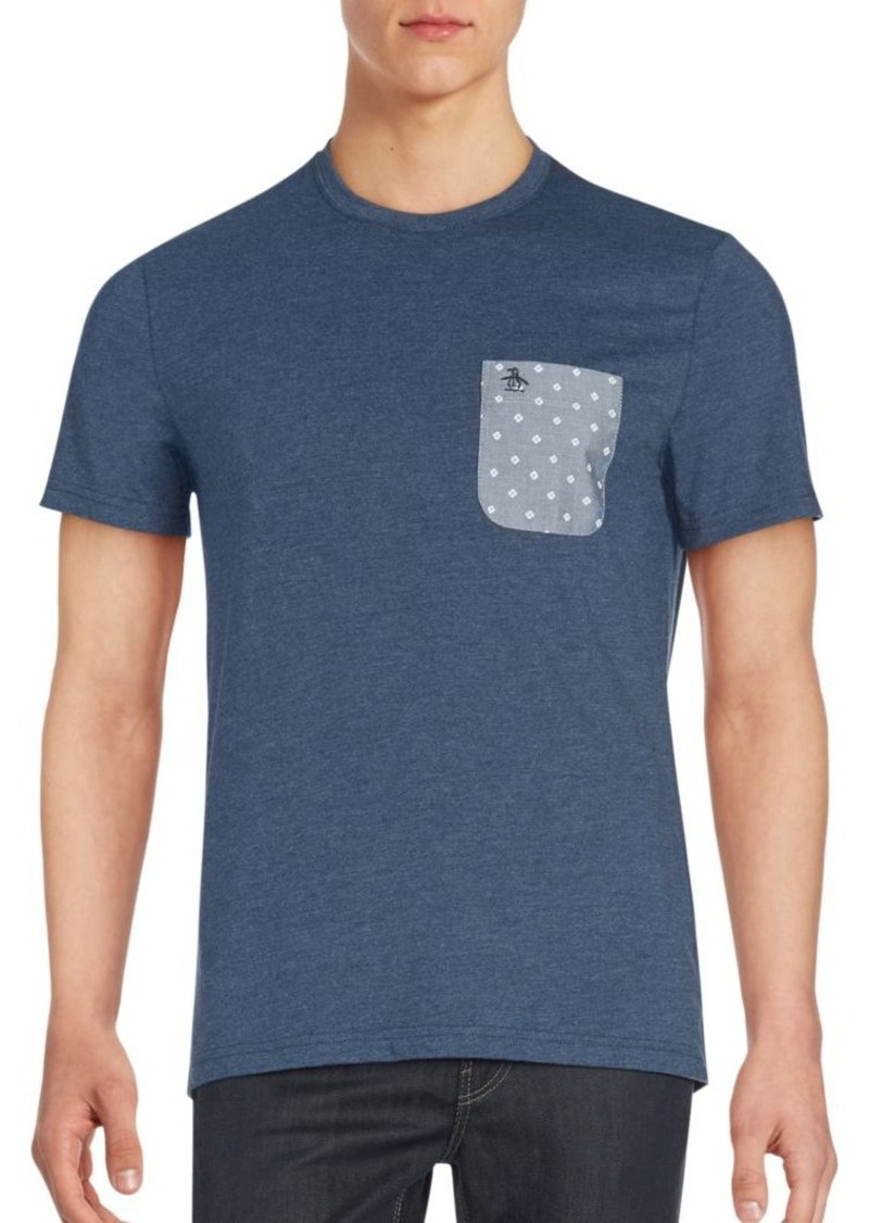 Original Penguin Patch Pocket Heathered T-Shirt