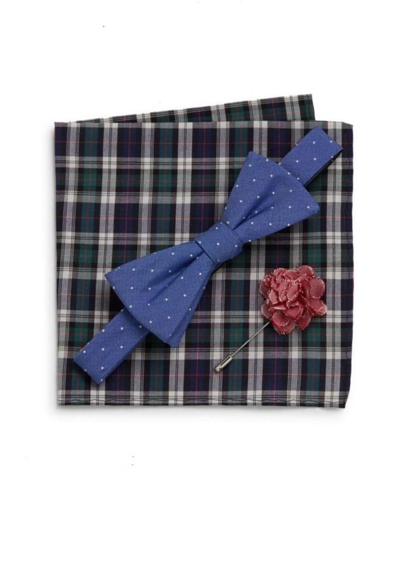 Original Penguin Perez Bow Tie, Pocket Square & Lapel Pin Gift Set