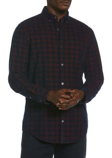 Original Penguin Plaid Button-Down Corduroy Shirt