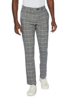 Original Penguin Plaid Cotton-Blend Trousers