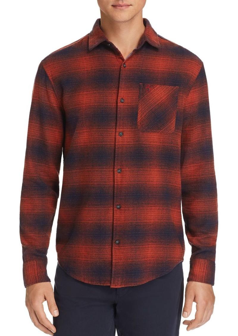 Original Penguin Plaid Flannel Regular Fit Shirt - 100% Exclusive