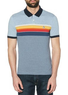 Original Penguin Regular-Fit Engineered Stripe Cotton Polo