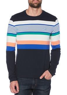 Original Penguin Road Map Stripe Cotton T-Shirt