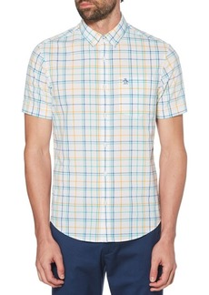 Original Penguin Roadmap Check Stretch Short Sleeve Shirt